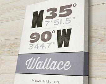 New House Warming Gift, Personalized Latitude and Longitude Location, GPS Coordinates Sign