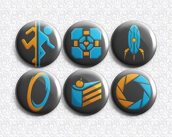 Geek Puzzle Gamer 6 Pack - Pinback Badge / Magnets / Sticky