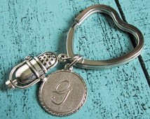 personalized key chain, 3D microphone keychain, gift for music lover, love singing, retro microphone mic, music charm, singer keychain