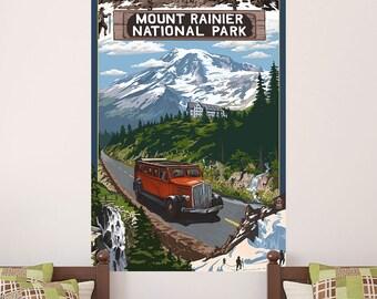 Mount Rainier Natl Park Climbers Wall Decal - #60863