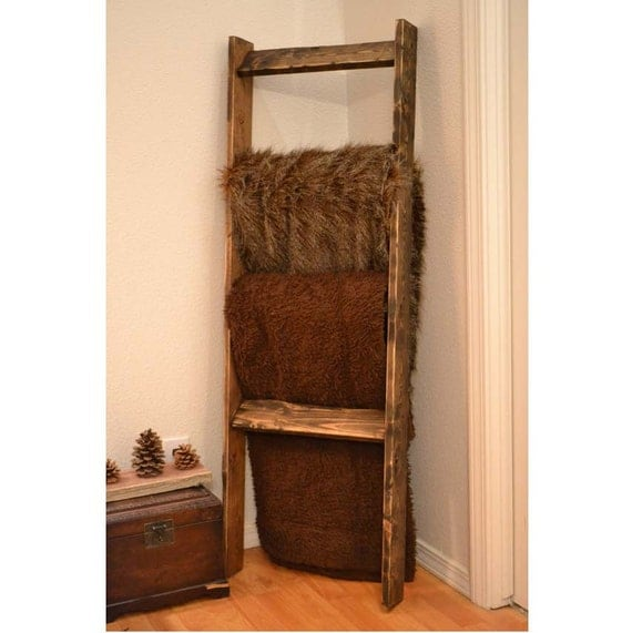 Rustic Weathered Blanket Ladder Woodland Nursery By Mintagedesigns