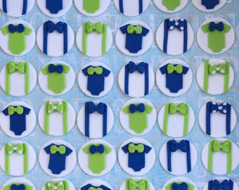 12 Little man Fondant toppers