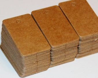 100 Kraft Mini Tags - 3.2cm x 2cm - Plain Tags  - Rectangle Tags - Plain Brown Manilla -  Price Label - Gift Packaging - OC119