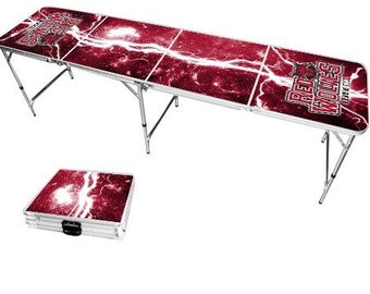 Arkansas State Red Wolves 8 foot portable folding tailgate table - Beer Pong