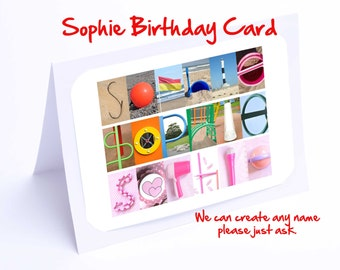 Sophie Birthday Card - Personalized