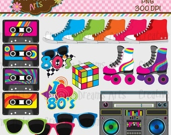 40% Off! 80's Digital Clip Art Instant Download
