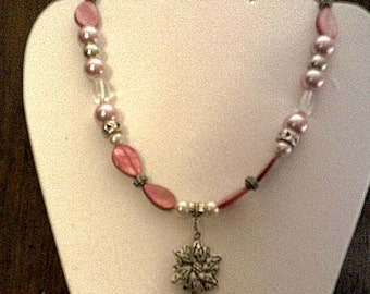 Lovely Mother of Pearl and Pendant Necklace