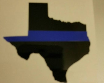 Texas blue line decal
