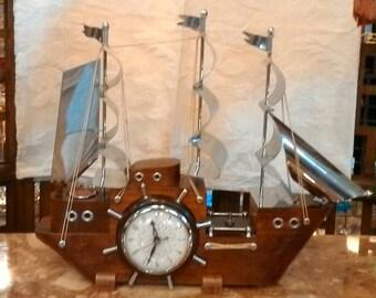 Clipper Ship Clock Etsy