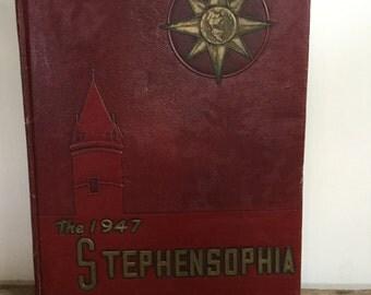 StephenSophia International 1947 Yearbook Stephens College Columbia Missouri