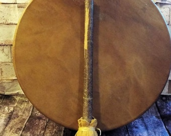 Handmade 14 inch Shamanic Drum and Drumstick
