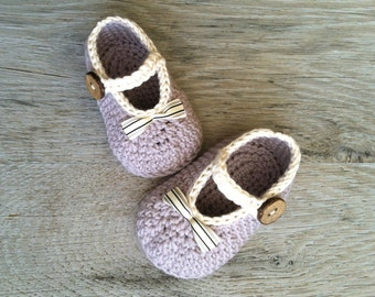 OLIVIA Gray Mary Jane Baby Girl Shoes, Cotton Baby Shoes, Baby Girl Booties, Made to Order in size 0-3, 3-6, 6-12 months