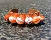 Fire Agate/ Copper Cuff...