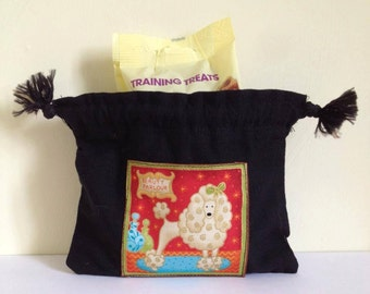 Poodle Treat Bag, Poodle Bag, Dog Treat Bag, Poodle Dog Treat Bag, Training Aid, Poodle Poop Bag, Poodle Training Bag, Poop Bag Holder
