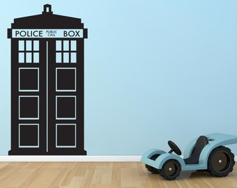 Tardis Dr Who Childrenu0027s Bedroom Wall Sticker Decal