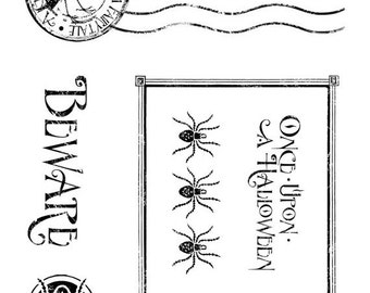 ON SALE - Graphic 45 Cling Stamp, Grim Fairytale 3 - IC0313