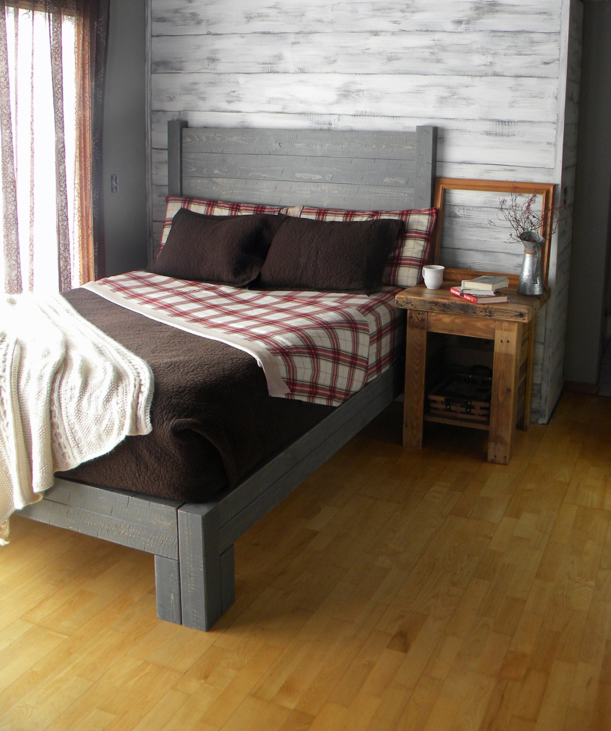 platform bed platform bed queen bed headboard bed frame beds bedroom furniture king bed rustic furniture repurposed reclaimed