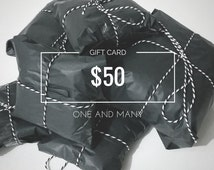 E-gift card of 50 dollars - Gift certificate for any occasion.