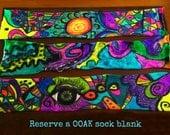 hand dyed sock blanks, sock blanks, single knit sock blanks, OOAK sock blanks, abstract painted sock blanks, yarn in handmade,acid dyed yarn