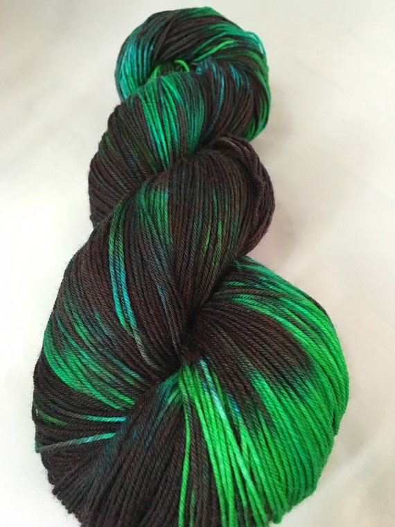 hand dyed yarn, sw merino, dark matter, dyed worsted, dyed DK, dyed ...