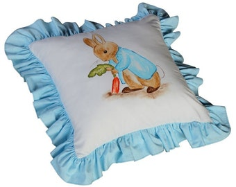 Peter Rabbit Pillow / Beatrix Potter Pillow