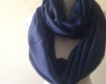 Blue Scarf, Blue Cotton Scarf, Summer light Scarf, Lightweight Scarf, Cotton Gauze Scarf, Infinity scarf, Infinity scarves, women scarves