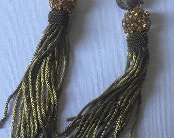 Beautiful very long art deco earrings