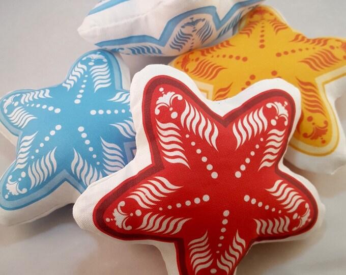 Plush Starfish- Decorative Small Pillow Set of 4