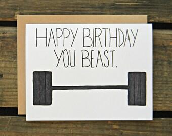 Crossfit/Fitness/Beachbody/Paleo/Bulletproof Diet Birthday Card