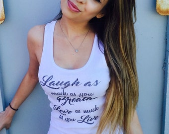 New Inspired by Matilda Jane Words To Live by Organic Tank Top