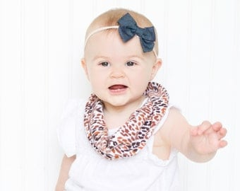Leopard Infinity Scarf - Baby Girl Fashion - Leopard Print Scarf - Girls Scarf - Baby Girl Clothes - Baby Scarf