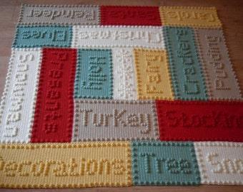 Numbers Baby Blanket Crochet PATTERN by by PeachUnicornCrochet