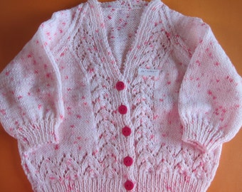 Hand knitted children cardigan sweaters, baby cardigan, girl, boy, knitted kids cardigan, child knit, toddler, pink, knit kids clothes