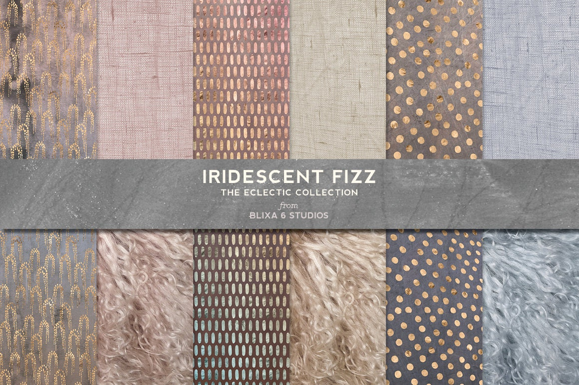 36 Effervescent Iridescent And Rose Gold Textured Patterns