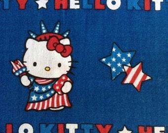 One Half Yard Fabric Material - Patriotic Hello Kitty