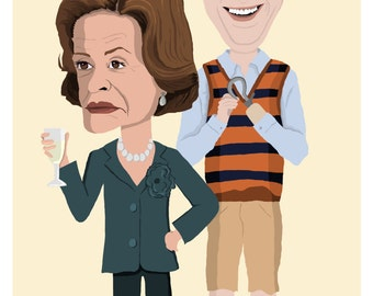 Arrested Development- Lucille and Buster Bluth A4 print