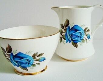 Imperial bone china cream milk jug and matching sugar bowl
