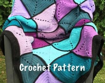 Crochet Pattern - Basic Granny Square Patchwork Crochet Blanket