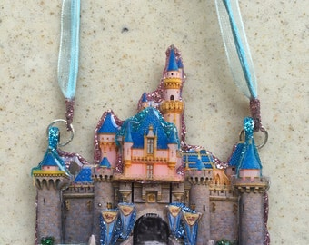 "Layered ""Fantasy Castle"" Fantasy Pendant on Necklace"