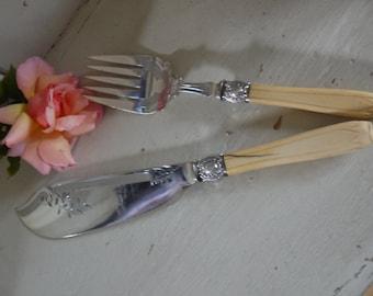Antique Server Spoon Set