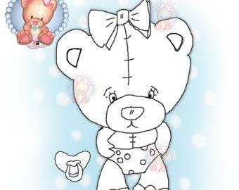 Digital Stamp PDB-Bear Love1