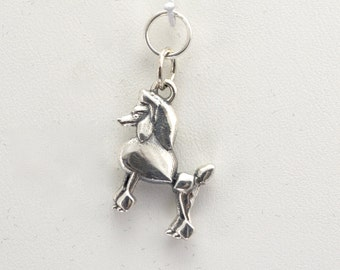 Sterling Silver Poodle Charm by Donna Pizarro from her Animal Whimsey Collection of Silver Poodle Jewelry & Silver Poodle Charms