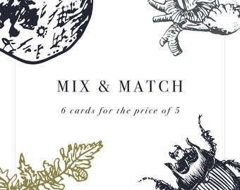 Mix and Match science greetings cards * Anatomy * Lobster * Snowflake * Birthday * Christmas * Anniversary * Valentines * Heart *