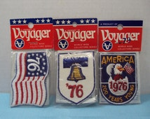 New Old Stock Voyager 1976 Bicentennial Embroidered Patches Emblems