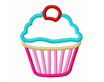 Cupcake 4x4 Applique Embroidery Design