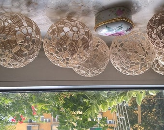 Cotton balls ażurowe szydełkowe kulki