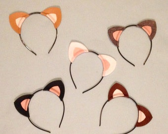1 Kitty cat ears headband birthday party favors supplies theme lioness kitten bulk wholesale lot kid children child adult baby babies