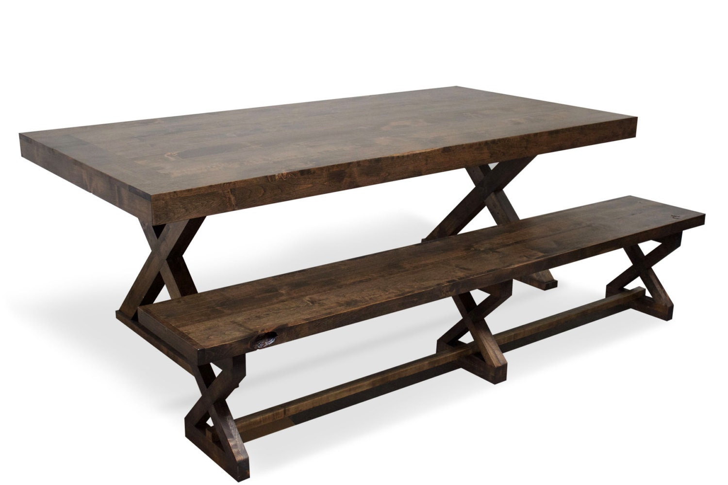Dining table kitchen table reclaimed wood style table - Kitchen table reclaimed wood ...