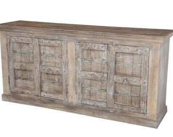 Large Indian sideboard buffet cabinet with antique doors from Terra Nova Furniture Los Angeles