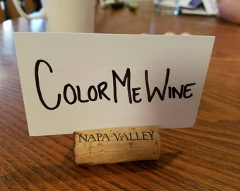 Set of 25 Napa Valley Cork Card / Name Card Holders